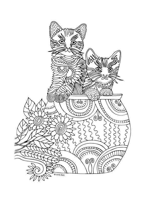 94 Best Images About Coloring Cats On Pinterest