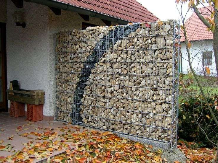int grer le mur gabion comme l ment d coratif dans le jardin jardins et id es. Black Bedroom Furniture Sets. Home Design Ideas