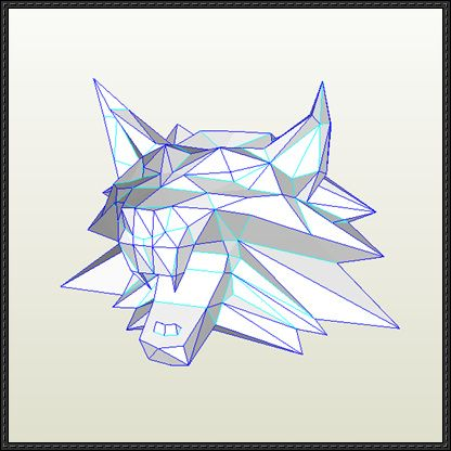 The Witcher - Witcher Medallion Mini Papercraft Free Download - http://www.papercraftsquare.com/witcher-witcher-medallion-mini-papercraft-free-download.html