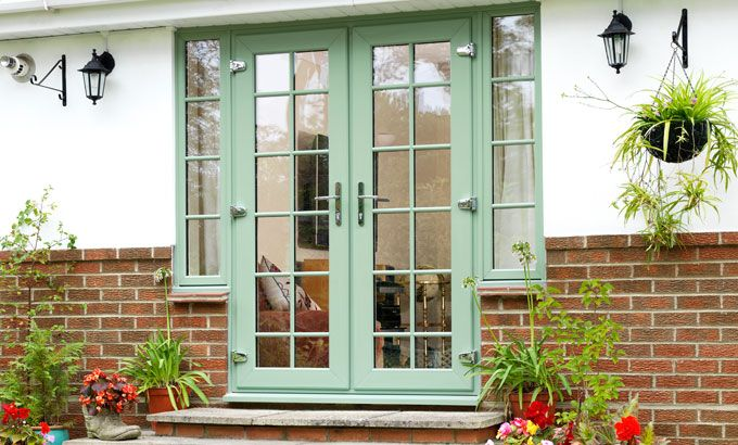 32 best images about kitchen doors and floor on pinterest for Upvc french doors homebase
