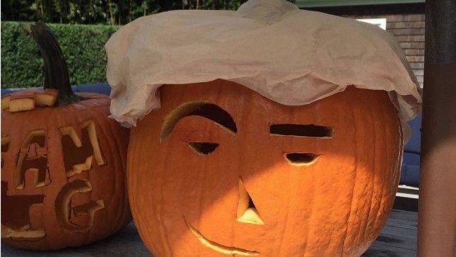 Alec Baldwin unveils 'Donald Trumpkin' jack-o'-lantern | TheHill