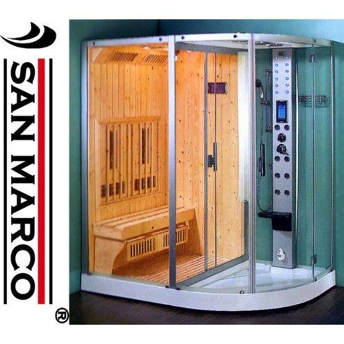 Cabina Doccia Con Sauna.Box Doccia Idromassaggio Con Sauna A Infrarossi Idromassaggio