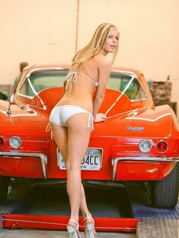1963 C3 Corvette And Model Girls With Cars Pinterest