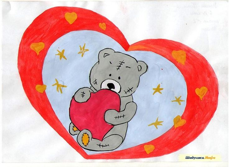 лофт открытка на день валентина нарисовать своими руками утки так безобидны