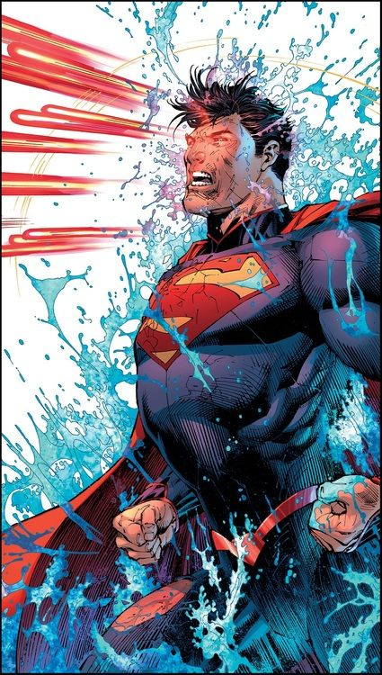 Superman blinking at super speed and firing out heat vision. Pretty cool.