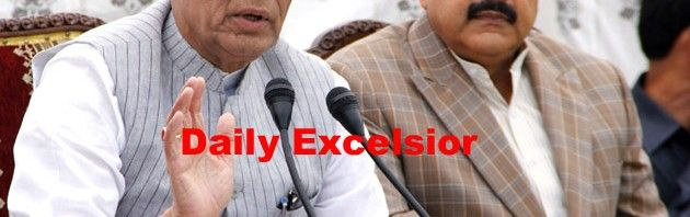 Union Home Minister Rajnath Singh addressing a press conference at Srinagar.Excelsior\Shakeel-ul-Rehman