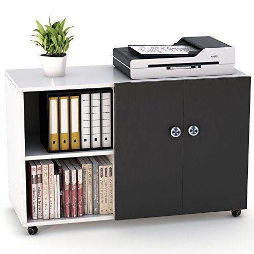File Cabinet Little Tree 39 Large Storage Printer Stand Mobile Lateral Filing Office Cabinet With Wheels Door An Filing Cabinet Home Office Storage Storage
