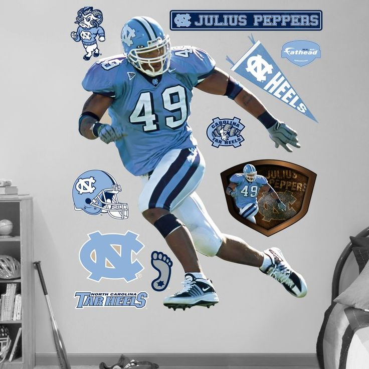 Fathead Julius Peppers North Carolina Tar Heels Wall Graphic