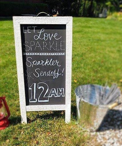 Sparkler Chalkboard Sign