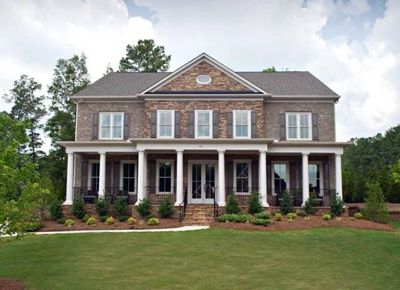Houses With Stone Columns : Best images about dream home exterior on pinterest