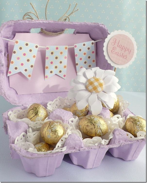 Altered Egg carton for a cute easter gift (tutorial)