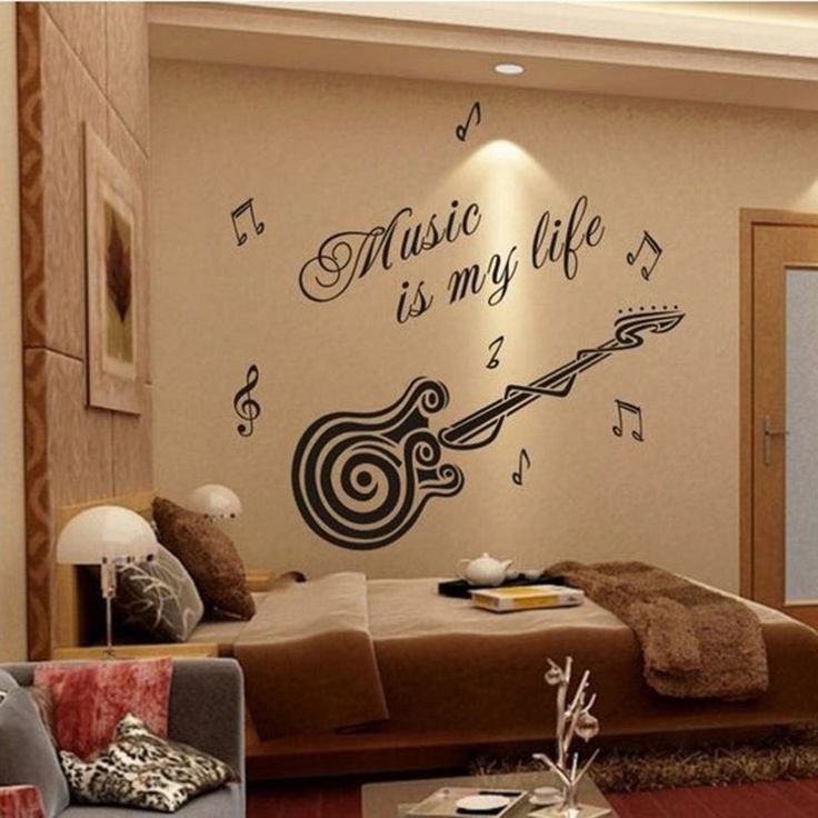 Grote Maat 70*80 cm Muziek Sticker Muziek Is Mijn Leven Thema Muziek Slaapkamer Decor & Gitaar Patroon Vinyl verwijderbare Muursticker in  2Pcs 12 Compartment Empty Plastic Storage Case Rhinestones Dired Flower Nail Art Product Earring Jewelry Container Orga van muurstickers op AliExpress.com | Alibaba Groep