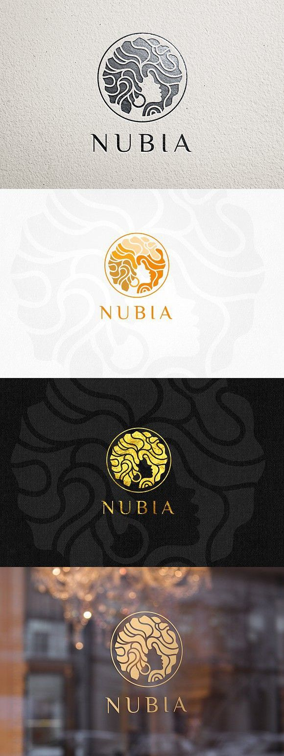 Nubia Hair Logo Template. Logo Templates