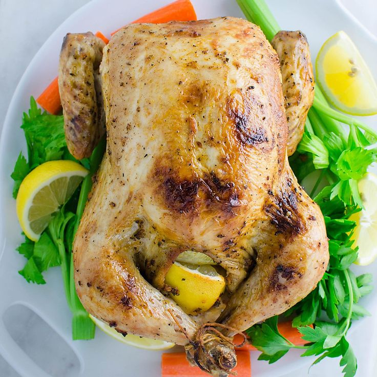 Garlic and Herb Roasted Whole Chicken -- quick preparation & tons of flavors with delicious gravy on the side.