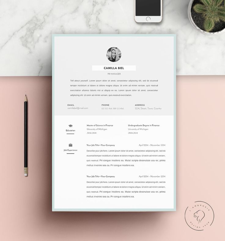 #Resume #Template | Downloadable #CV for Microsoft Word