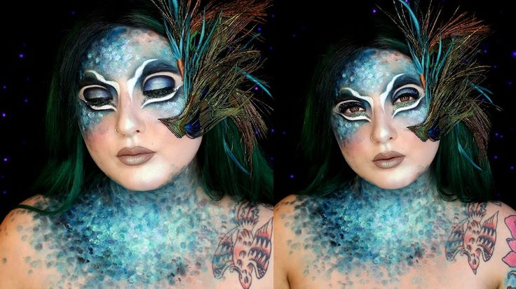 maquillajede carnaval de pavo real