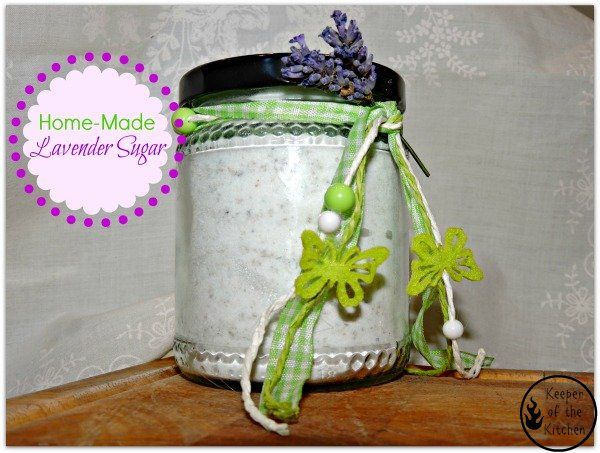 Make some Lavender Sugar with the gorgeous lavender that's out right now!