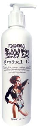 Self Tanner Gradual 10   Famous Dave's Self Tanner   Sunless Tanning Lotion