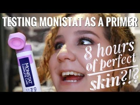 Monistat Chafing Gel as Primer for Oily Skin- FULL DAY 8hr WEAR TEST