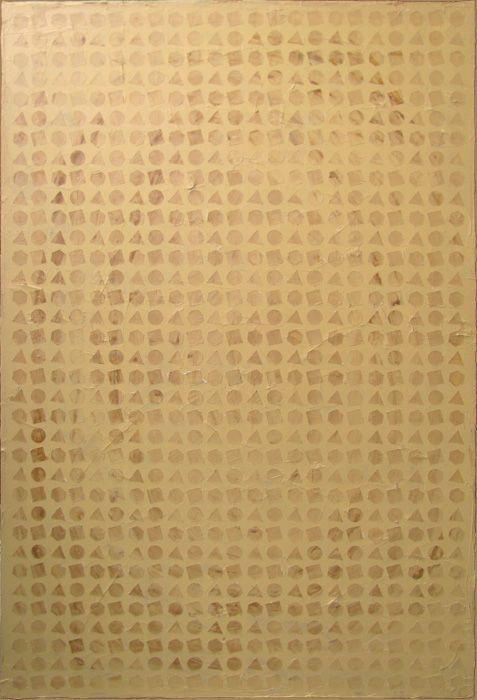 Geo - Geometric Pixels - Acrylic on Canvas