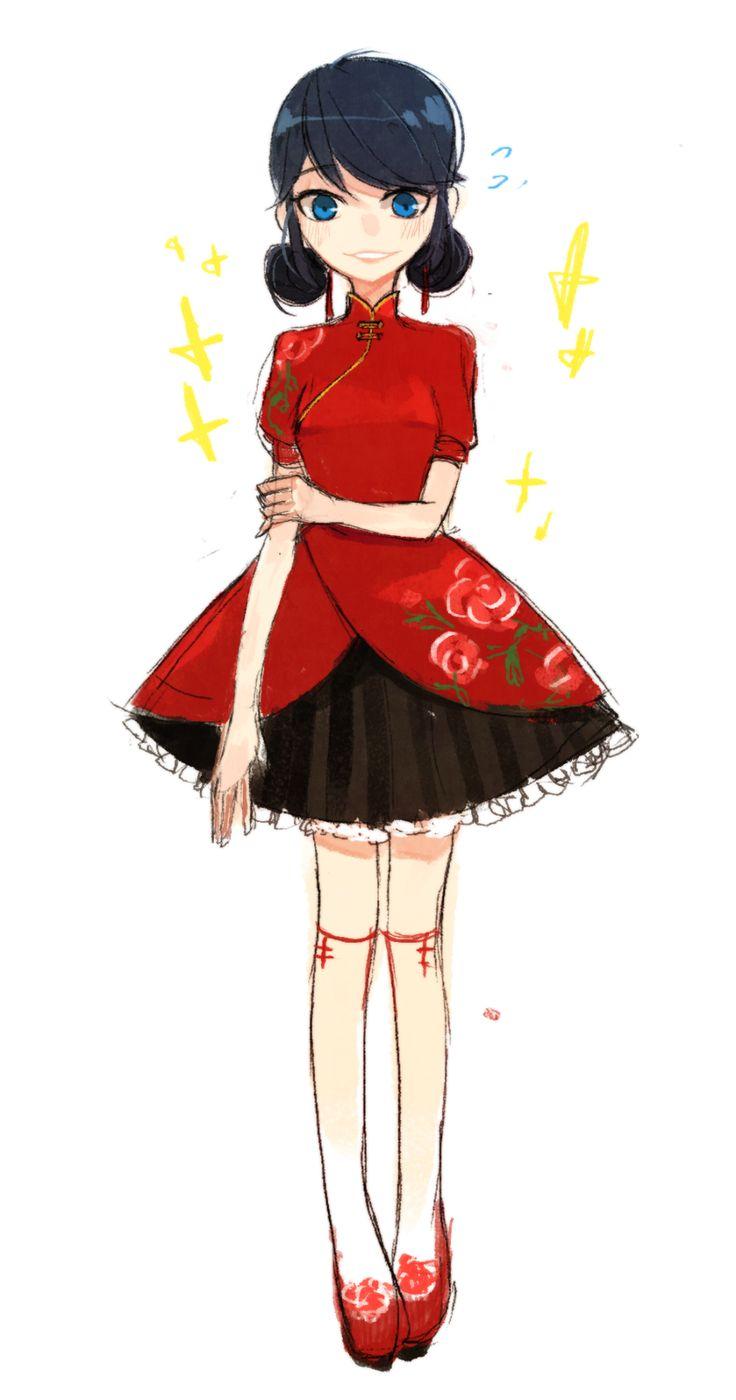 Esse penteado da Marinette eu já fiz uma vez pra ir numa festa e usei um vestido quase igual ❤️