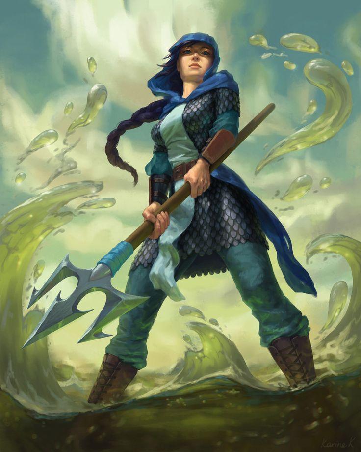 Water Enchantress, Karine K on ArtStation at https://www.artstation.com/artwork/water-enchantress