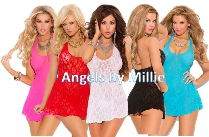 $15.99 Womens #Lingerie Set Short Nightgown Stretch Lace Halter Mini Dress Panty Sexy #ElegantMoments #Gowns