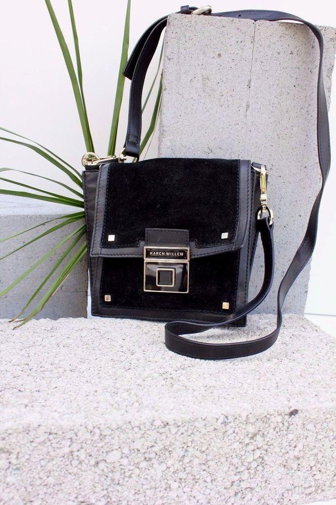 95a032fda7 Karen Millen GM039 Suede Leather Shoulder Satchel Cross Body Bag Sling  Handbag #KarenMillen #Crossbody