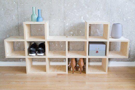 Smart/anderledes ide, men måske ikke nok til alle sko. og lige til garderoberummet.