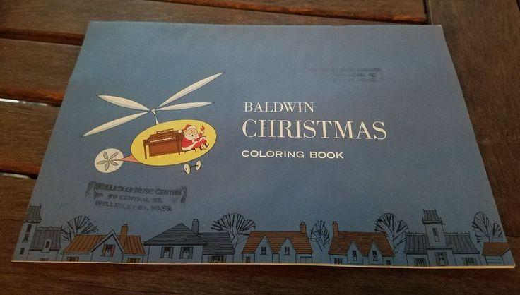 VINTAGE BALDWIN PIANO CHRISTMAS COLORING BOOK - Unused | eBay!