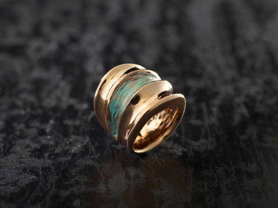 Bague Ethnique argent ou bronze / création unique sur mesure / bijoux ...