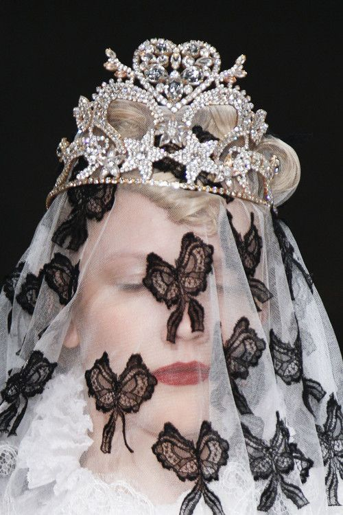 Meadham Kirchhoff  Fall 2013 RTW  Don't ask, if you don't think your royalty, no one else will.