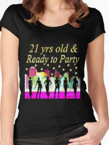 21 YEARS OLD AND READY TO PARTY NYC DESIGN Women's Fitted Scoop T-Shirt Awesome 21st Birthday T Shirts and Gifts. http://www.redbubble.com/people/jlporiginals/collections/384125-21st-birthday #21stbirthday #21yearsold #Happy21stbirthday #21stbirthdaygift #21stbirthdayTee #happy21st