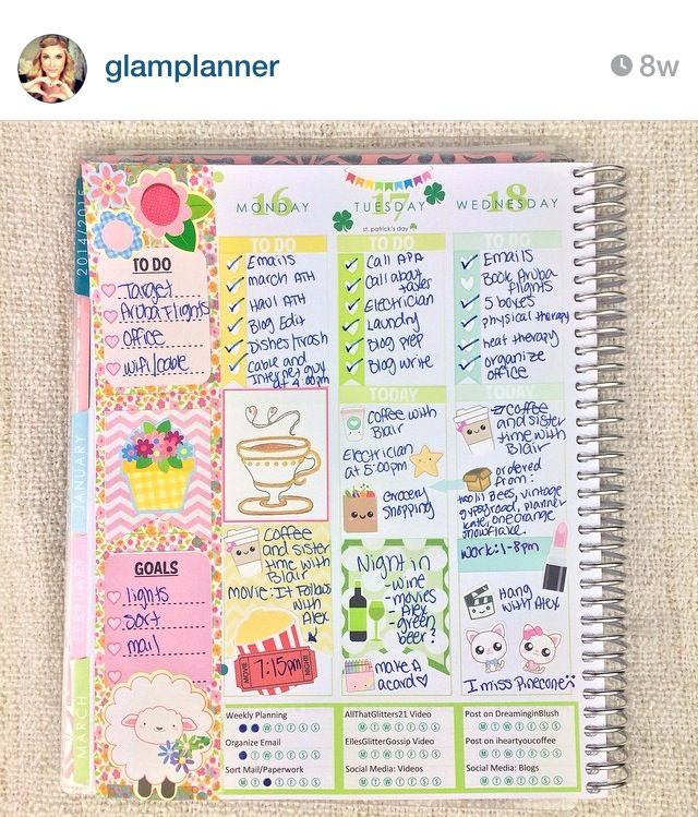 Planner goals! Elle Fowler on Instagram. This is her planner specific account.