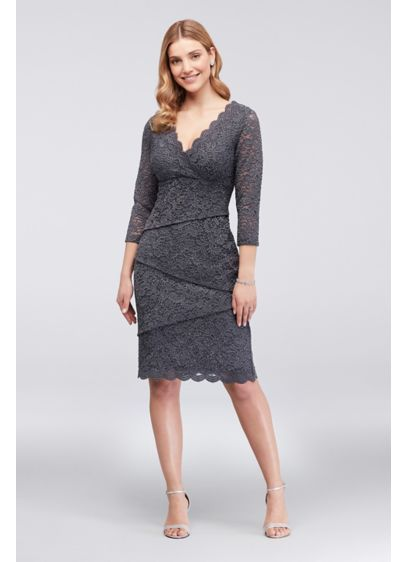 c81ddd4ab14f6 Short Sheath 3/4 Sleeves Cocktail and Party Dress - Ronni Nicole ...