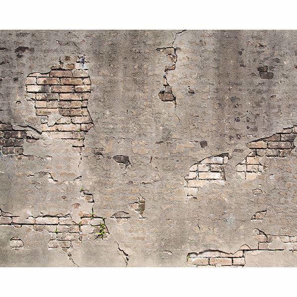 Bricks Peek Through Beneath Crumbling Concrete This Mural Will Give A Room An Industrial Look Broken Concrete Industrial Wall Art Concrete Wall