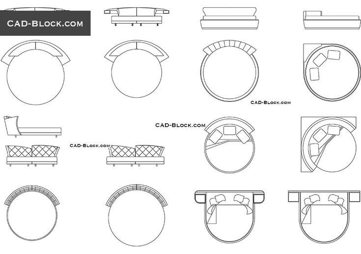 11 best furniture images on pinterest cad blocks for Bed elevation cad block free download