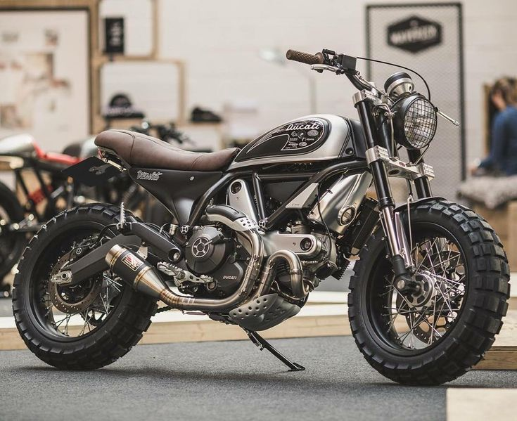 Scramblers & Trackers | @scramblerstrackers #scramblerstrackers | Shaun at @downandoutcaferacers showing he's no one trick pony when it comes to bringing swagger to a factory bike. Just look at this @scramblerducati he just unveiled at the Bike Shed,...