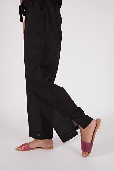 woven cotton wide leg pants,(available in three shades) $59 www.sassind.com