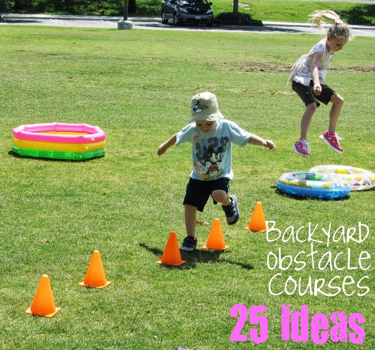 Outdoor Obstacle Course For Kids Using Natural Materials