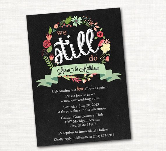 Wedding Gifts For Vow Renewal : ideas about Vow Renewal Invitations on Pinterest Vow renewals, Vow ...