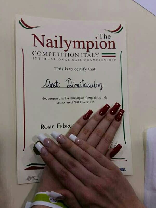 # nailympionitaly2016 #nails #pink&white #contest #champion