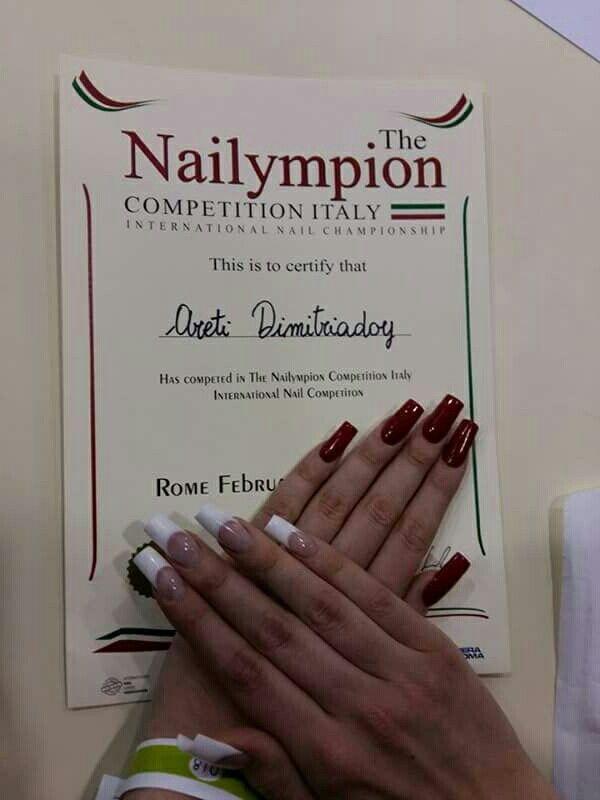 # nailympionitaly2016 #nails #pink&white #contest #champion