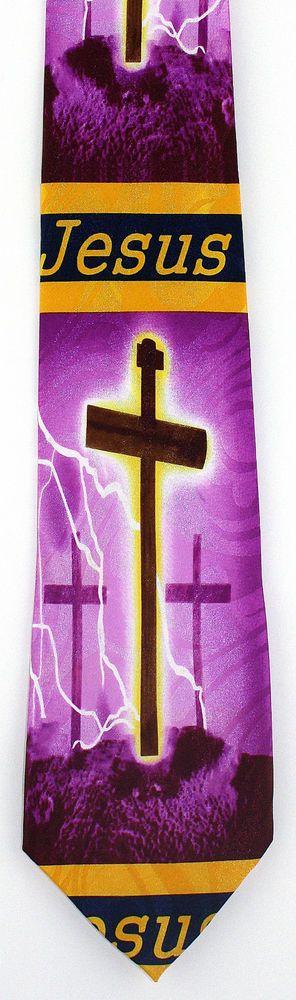 New Jesus Calvary Cross Mens Necktie Christ Christian Religious Easter Neck Tie #StevenHarris #NeckTie