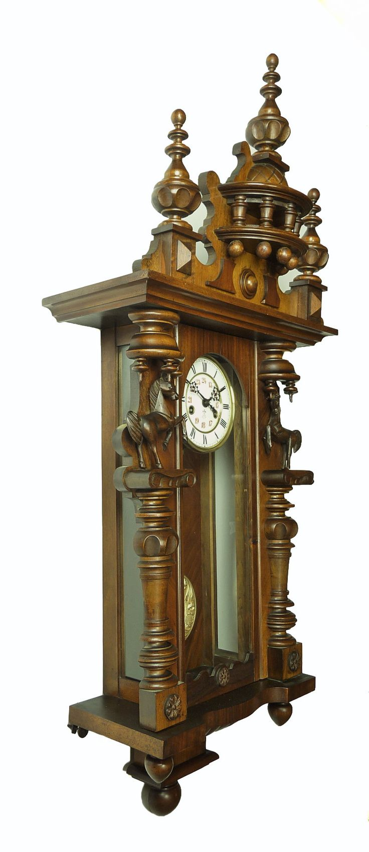 Best 25 grandfather clock repair ideas on pinterest grandfather rare gorgeous antique gustav becker wall clock at 1900 2 horses on the door amipublicfo Choice Image
