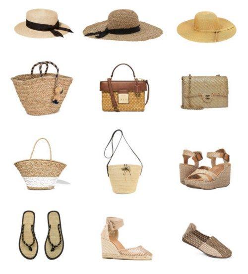 Летний гардероб - Соломенные шляпы, сумки и обувь Summer wardrobe - straw hats, bags and shoes www.wearnissage.com  #style #capsulewardrobe #minimalism #basics #outfits #капсульныйгардероб #стиль #минимализм