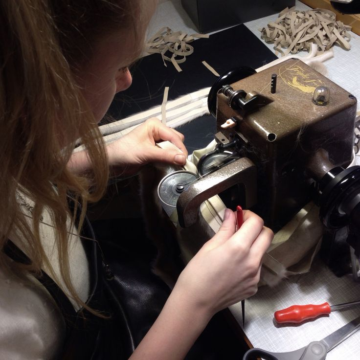 Our favourite machine in use - we ❤️ our fur sewing machines!