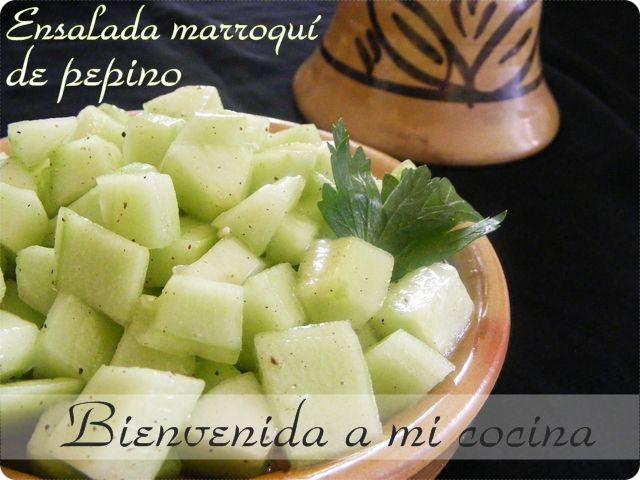 Bienvenida a mi cocina: Ensalada marroquí de pepino (versión dulce y salada)