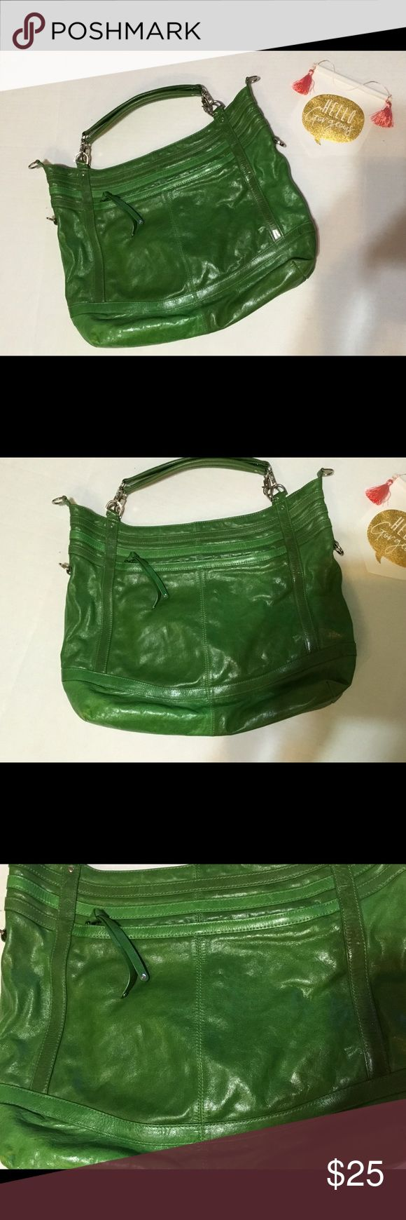 """🍀 XL green bag from Marc NY Andrew Marc 🍀 XL green bag from Marc NY Andrew Marc.  Just in time for St. Patrick's Day!! Plenty of room for all of your gear!  15 x 19 x 5.  Strap drop 7"""".  Super cute and CLEAN! Andrew Marc Bags"""