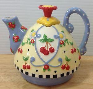 Mary Engelbreit Cherries | Mary-Engelbreit-Teapot-for-One-Blue-Dots-Cherries-ME-Ink-Michel-2002 ...